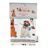 Cooking Apron Cotton Twill Chef Baking Kitchen Unisex Novelty Dogs BBQ Grill New